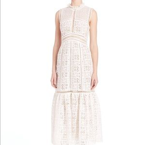 Rebecca Taylor Lace Crochet Dress in white